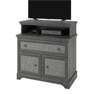 1 Drawer Media Chest in Gray Rodeo Oak