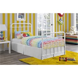 Brooklyn Iron Twin Bed in White