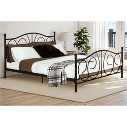 Victoria Metal Full Bed in Bronze