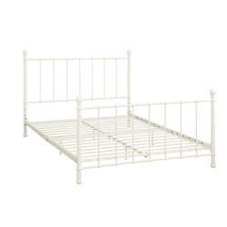 BrickMill Metal Full Bed in White