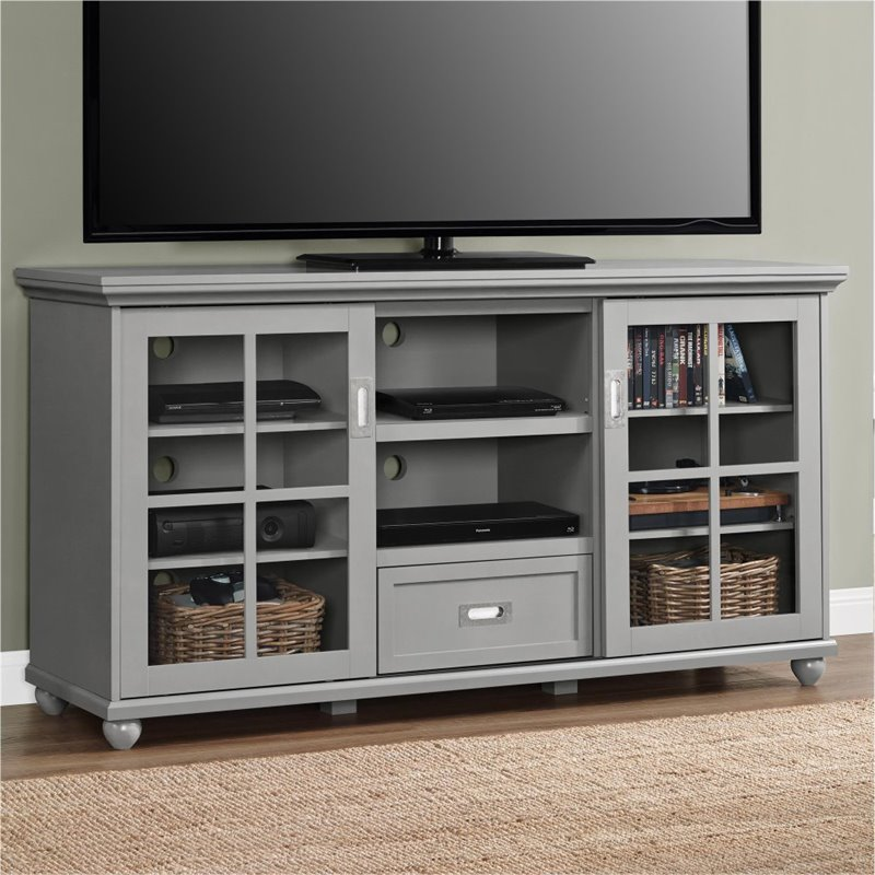 55 39 39 Tv Stand In Gray 1782196pcom