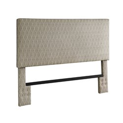 DHP Upholstered Full Queen Headboard in Brown and Tan Dot