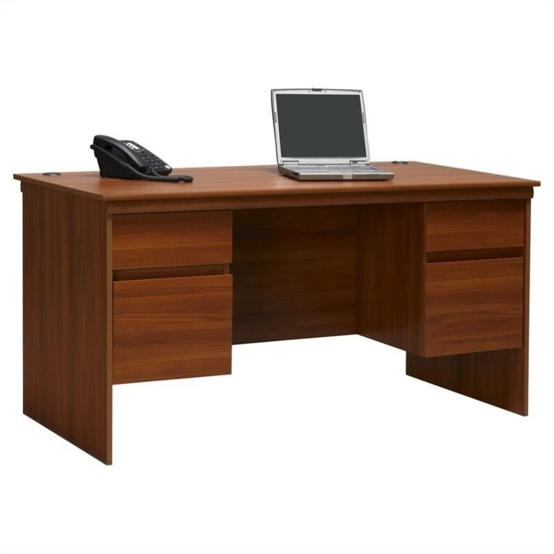 Ameriwood 60 Quot Executive Computer Desk In Cherry 9111083st