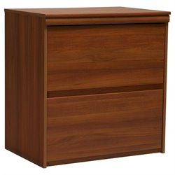 Ameriwood Industries 2 Drawer Lateral Wood File Storage Cabinet in Brown