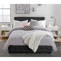 Cambridge Platform Full Bed with Storage in Black