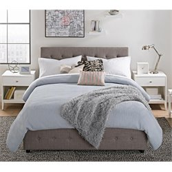 Cambridge Platform Full Bed with Storage in Gray