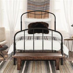 Platform Twin Bed in Bronze Metal