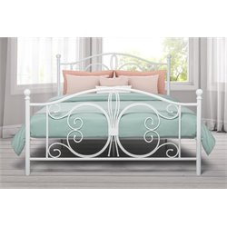 Bombay Full Metal Bed in White