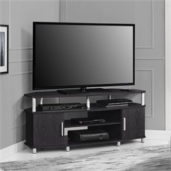 50'' Corner TV Stand in Black