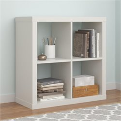 Hollow Core 4 Cube Bookcase in White