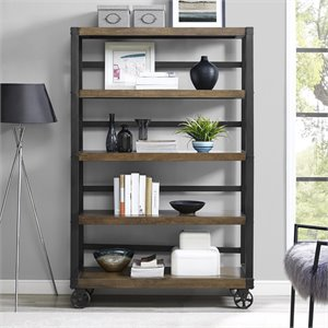 4 Shelf Bookcase in Rustic Gray