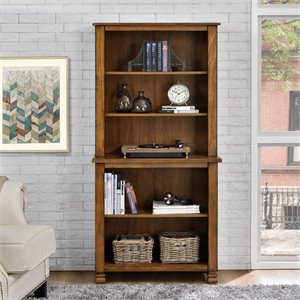 5 Shelf Bookcase in Tuscany Oak