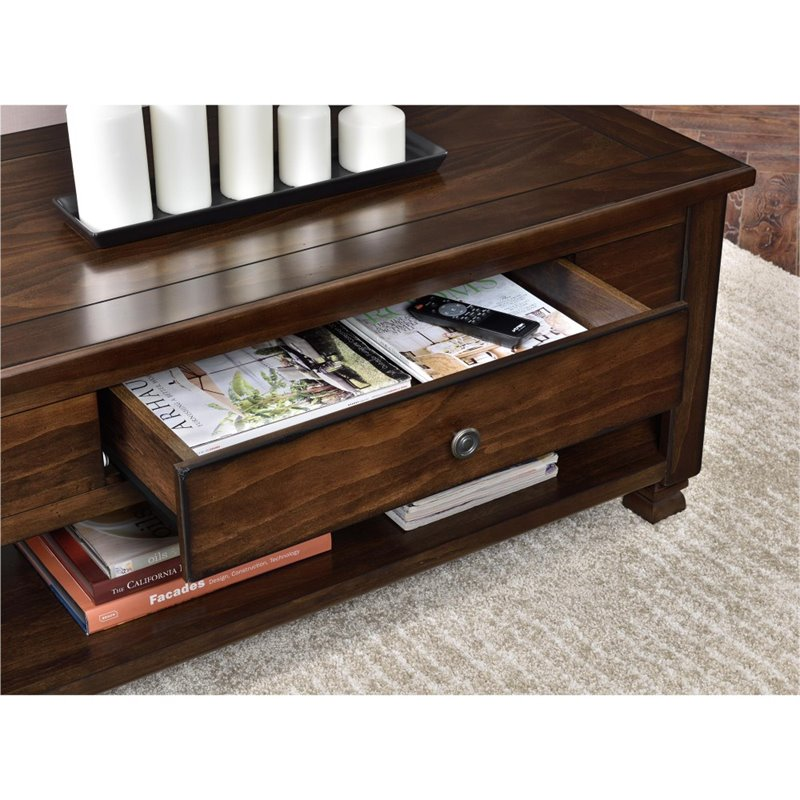 Wood Veneer Coffee Table In Espresso 3609196com