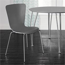 DHP Bentwood Dining Chairs in Gray (Set of 2)