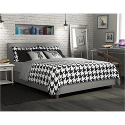 DHP Maddie Full Upholstered Bed in Gray