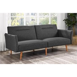 DHP Brent Linen Convertible Sofa in Gray
