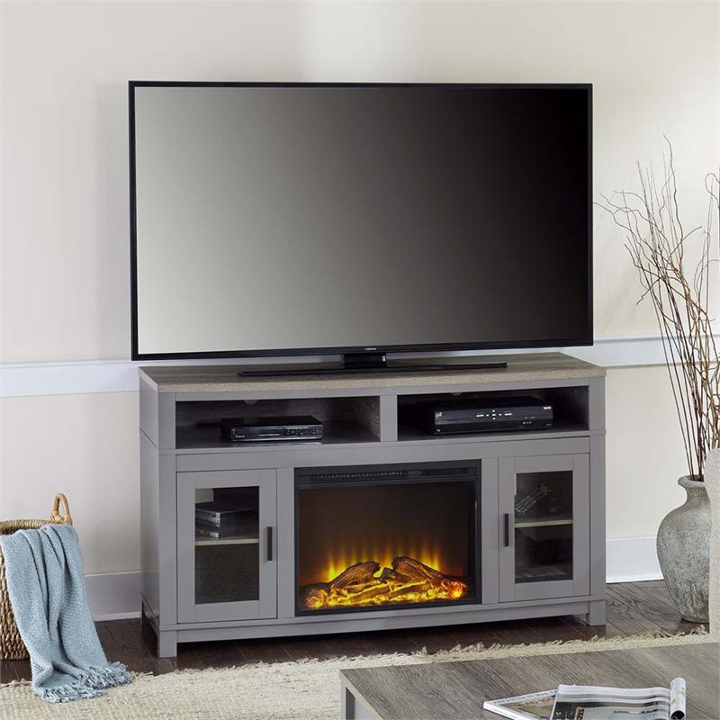 Electric Fireplace Tv Stand In Gray 1774096com