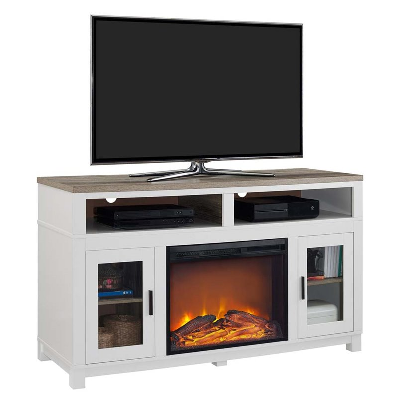 Electric Fireplace Tv Stand In White 1774296com