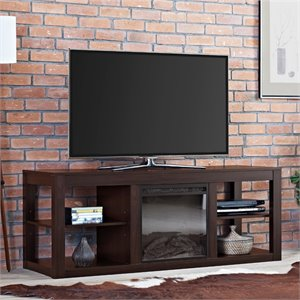 Fireplace TV Stand in Espresso