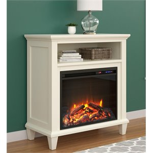 32'' Fireplace TV Stand in Ivory