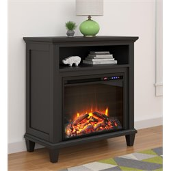 32'' Fireplace TV Stand in Black