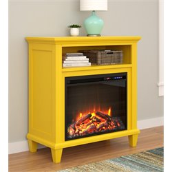 32'' Fireplace TV Stand in Yellow