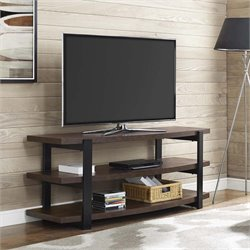 Curved TV Stand in Espresso and Black