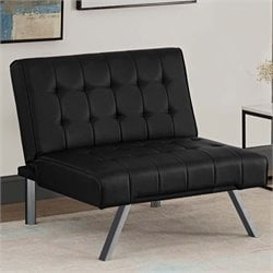 Faux Leather Chair in Black