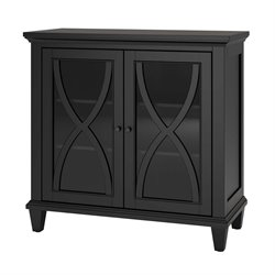 Double Door Accent Cabinet in Black
