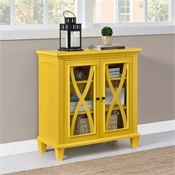 Double Door Accent Cabinet in Yellow