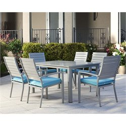 7 Piece Aluminum Patio Dining Set