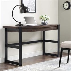 Writing Desk in Espresso and Black