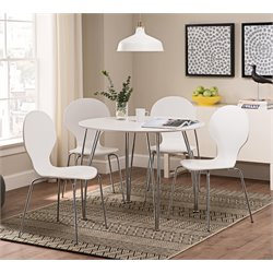 DHP Bentwood 5 Piece Round Dining Set