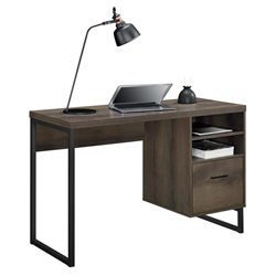 Ameriwood Home Candon Desk in Distressed Brown Oak