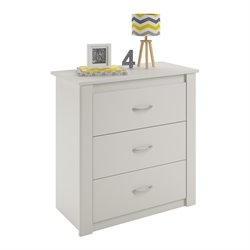 Ameriwood Home Riley 3 Drawer Dresser in White