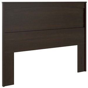 Ameriwood Home Crescent Point Panel Headboard in Espresso