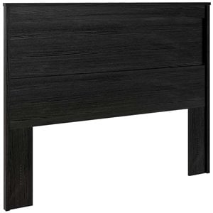 Ameriwood Home Crescent Point Panel Headboard in Black