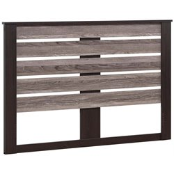 Ameriwood Home Colebrook Slat Headboard in Espresso and Oak