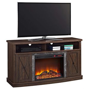 Ameriwood Home Barrow Creek Fireplace TV Stand in Espresso
