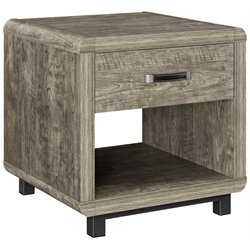 Ameriwood Home Eastlin Drawer End Table in Brown