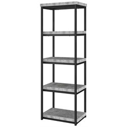Ameriwood Home Ashlar 4 Shelf Bookcase in Concrete Gray