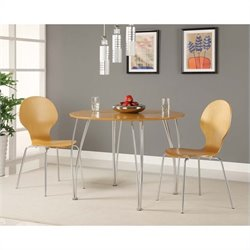 DHP Bentwood Round Wood Dining Table in Natural