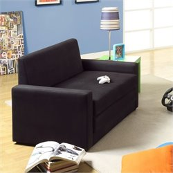 DHP Double Seater/Sleeper Chair in Black