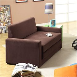 DHP Double Sleeper Chair in Chocolate Brown