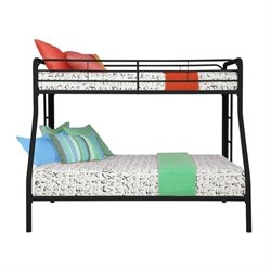 Metal Twin over Full Bunk Bed in Black