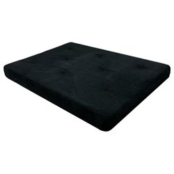 6-Inch Independently-Encased Coil Premium Full-Size Futon Mattress in Black
