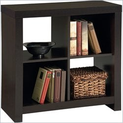 Ameriwood Hollow Core 4 Cube Wood Bookcase in Black Forest
