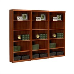 Ameriwood 5-Shelf Standard Wall Bookcase in Expert Plum