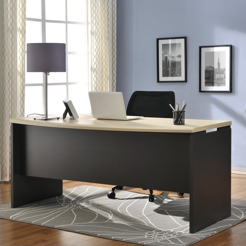 Executive Desk In Natural And Gray 9319096