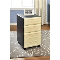 3 Drawer File Cabinet in Natural and Gray